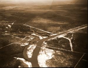 Bessey Creek in 1965, is the exiting point for C-23 into the St Lucie River. The canal was  built between 1959 and  1961.