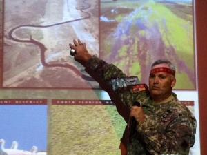 ACOE Lt. Col. Greco explains restoration of the Kissimmee River