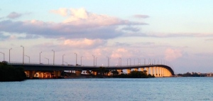 The Ernest Lyons Bridge spends the Indian River Lagoon from  Sewall's Point to Hutchinson Island. Mr Lyons was an eloquent and outspoken river activist in his day.