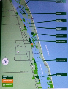 Indian River Land Trust map of acquired properties along the Indian River Lagoon.