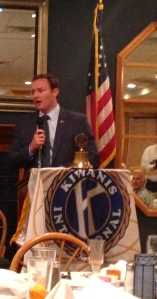Congressman Patrick Murphy speaking, Kiwanis luncheon, 4/15/14, 2014.