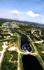 Canals C-23, C-24 and C-25 were built as part of the Central and South Florida Control Flood Control Project. The project started in the 1940; however these canals were built in the 50s and 60s.