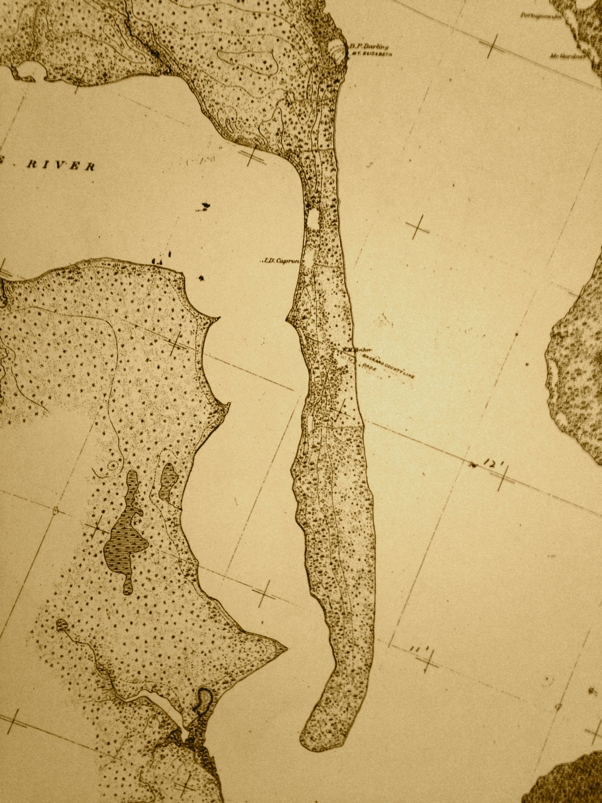 The Rare Topographical SurveyDescription St Lucie River - Indian river lagoon map