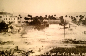 """Jensen, Florida, After the Fire, May 3,1908."" (Photo page 145, Historic Jensen and Eden on Florida's Indian River, by Sandra Henderson Thurlow.)"