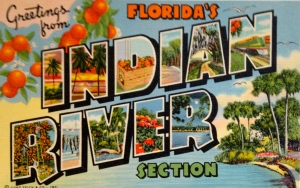 Historic postcard, Indian River Citris. (Collection of Sandra Henderson Thurlow)