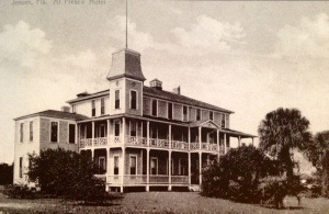 Historic post card of the Al Fresco Hotel, Jensen, late 1800s. (Courtesy of Sandra H. Thurlow.)