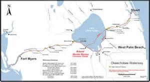okeechobee waterway from atlantic to gulf of mexico map public