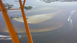 Aerial of the confluence of the SLR/IRL off of Sewall's Point, July 27th, 2014. (Photo courtesy of Scott Kuhns.)