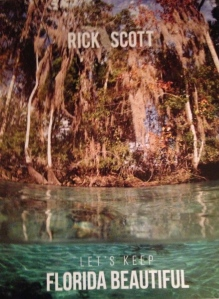 "Cover of ""Let's Keep Florida Beautiful,"" The environmental plan, Gov. Rick Scott, 2014."