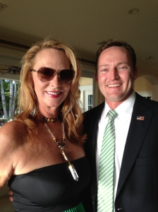 Patrick at fundraiser held in the Town of Sewall's Point, 2013.