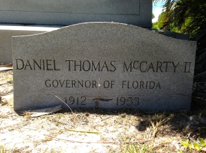 Daniel Thomas McCarty, Governor of Florida, 1912-1953.