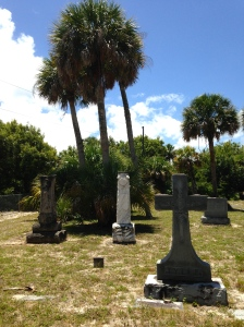 View of cemetery.