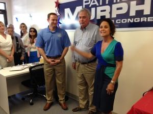 Speaking on behalf of Congressman Murphy at his campaign headquarter in Stuart, 2014.