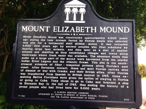 Historic marker for Mount Elizabeth.