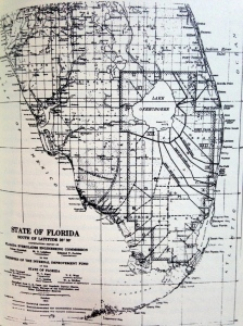 Proposed Everglades canal system/drainage, state of Florida, 1914.