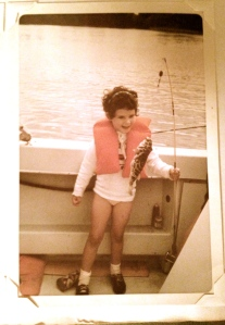 "My ""first fish"", a puffer, Indian River Lagoon. (Family album, 1968.)"