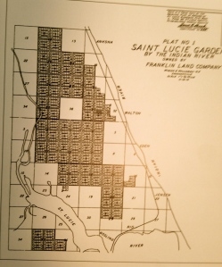 Plat map of St Lucie Gardens originally part of Disston's lands in the savannas, 1911. (Courtesy of historian Sandra Thurlow)