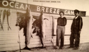 ca. 1944 post card advertising Ocean Breeze Camp from Sandra  Henderson Thurlow's book, Historic Jensen and Eden on Florida's Indian River.