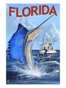 Florida sailfish ad, ca. 1960s. (Florida Memory Project)