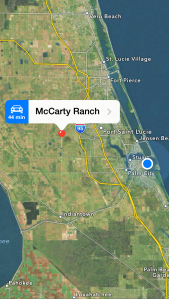 McCarty Ranch is located in St Lucie County and will be the future water supply for the City of Port St Lucie.