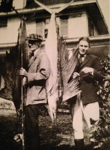 Drew family of Jacksonville in Stuart ca. 1920 fishing for sailfish. (Photo Thurlow archives.)