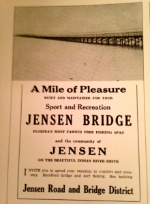 """the Jensen Beach Bridge was advertised in the Martin County Chamber of Commerce Fishing Guide, published in 1935. (Courtesy of Robert McClinton Pitchford, Thurlow archives.)"