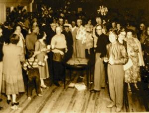 The Ocean Breeze Park Clubhouse, social center for parties, dances, meetings and performances. (Thurlow collection.)
