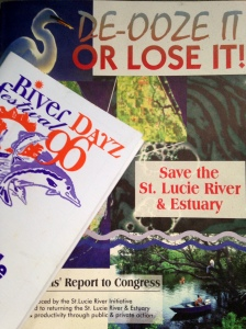 St Lucie River Initiative's Report to Congress 1995, and River Dayz '96 Festival. (Courtesy of historian Sandra Henderson Thurlow.)