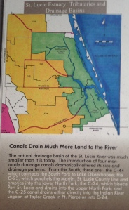 "Green is original flood plane and yellow is expanded flood plane. Photo from A ""Citizens' Report to Congress"" 1995, St Lucie River Initiative."