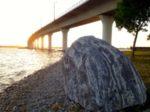 The forgotten boulder under the Ernest Lyon's Bride...