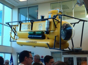 One of Harbor Branch's famous submersibles now on display.