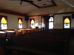 The pews of the church were given by Henry Flagler.
