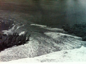 """Peck's Lake breakthrough 1948, Jupiter Island. (Ruhnke Collection, Thurlow Archives, from the book """"Sewall's Point,"""" by Sandra Henderson Thurlow.)"""
