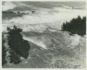 Peck's Lake breakthrough inlet, early 1960s. (Photo Whiticar Family)