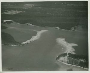 Wash through, Peck's Lake, ca. early 1960s. (Whiticar)