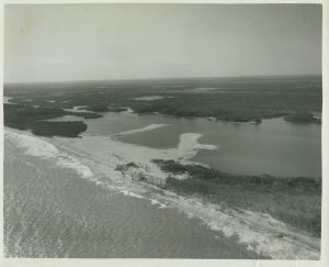 Another angle of Peck's Lake inlet, ca. early 1960s. (Whiticar)