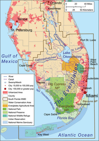 Where Do The Water Conservation Areas End And Everglades National - Indian river lagoon map