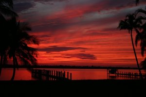 Sunset, St Lucie River, Todd Thurlow, 2014.