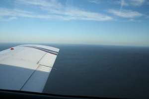 Lake Okeechobee by plane. (Photo JTL.)