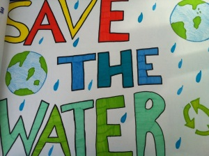 SAVE THE WATER; SAVE THE SLR/IRL and EVERGLADES! (Waterfest art, 2nd graders, City of Stuart 2013)