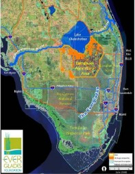 Redirection of water to the estuaries. Late 1800 and early 1900s.(Map Everglades Foundation.)