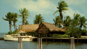 Postcard photo of Francis Langford's Outrigger Resort ca. 1960s)
