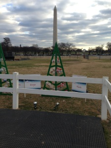 Solidarity Christmas Tree in Washington DC, 2014. (Photo borrowed from Facebook.)