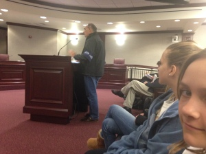 Mark Perry before the Senate Natural Resources Committee. (JTL)