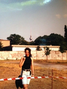 "Me standing in front of the Berlin Wall and ""Noman's Land"" 1990. Berlin Germany. (Photo by Christian Koch.)"