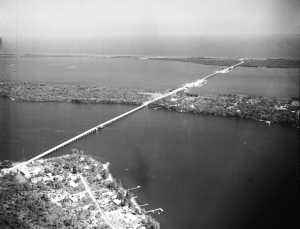 """Bridges to the Sea,"" Stuart to Sewall's Point to Hurchinson Island and the Atlantic Ocean, 1965, Rhunke Collection, Thurlow Archives."