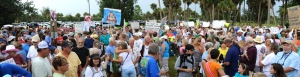 Organized on Facebook primarily by Evan Miller, the Protest of 2013 against the discharges from Lake Okeechobee brought out over 5000 people. (Photo Sevin Bullwinkle, 2013.)