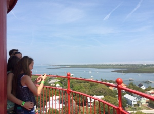 My nieces look over the Matanzas River from the Lighthouse in St (Photo Jenny Flaugh 2015) .