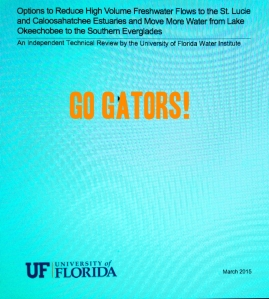 Go Gators! Thank you to Dr Wendy Graham and the scientists of the UF Water Study, 2015.