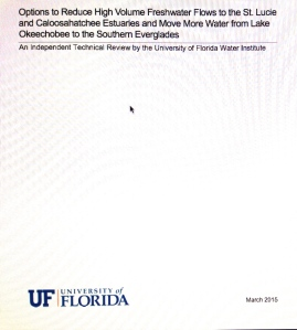 Cover of UF LakeO Study, 2015.